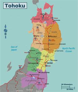 Map of Tohoku