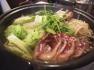 Food: Kamo Nabe (Duck hotpot)