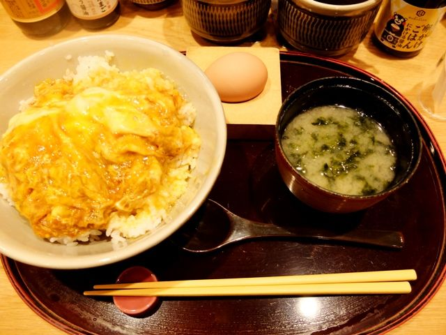 Food: Raw egg in Haneda Airport