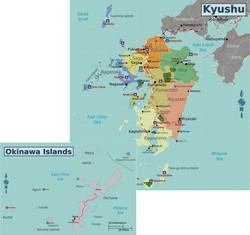 Map of Kyushu & Okinawa