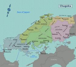 Map of Chugoku