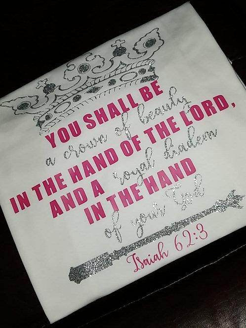 Isaiah 62:3 Glitter Tee