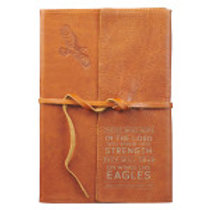 Wings of Eagles Leather Tan Journal