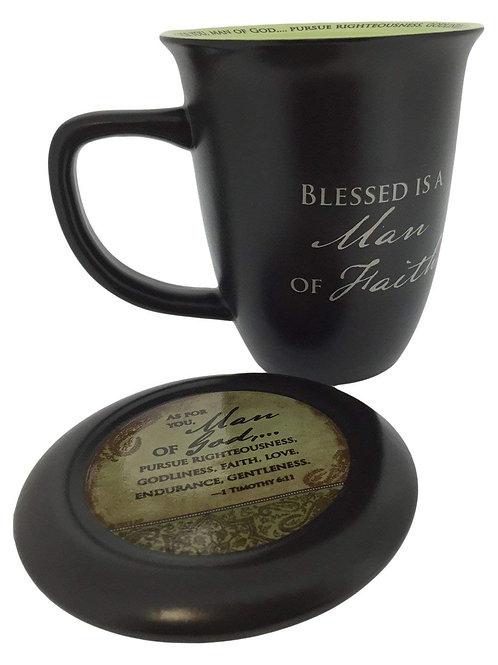 Man of Faith Ceramic Mug & Coaster Set