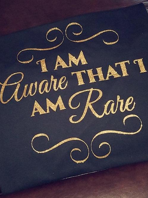 I Am Aware that I Am Rare Glitter Tee