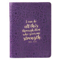 I Can Do All Things Through Christ Faux Leather Journal