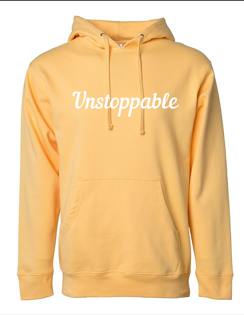Unstoppable Hoodie - Light Yellow