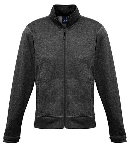 Biz Black Marle Zip Up Sweater - Size Adult XL
