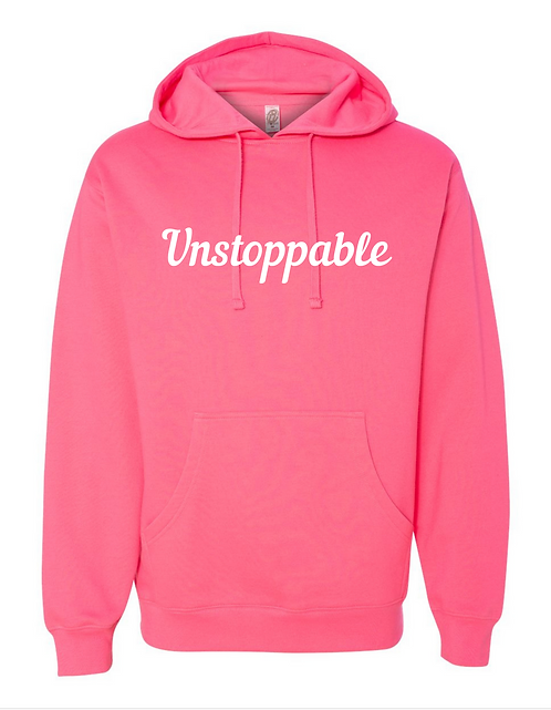 Unstoppable Hoodie - Neon Pink