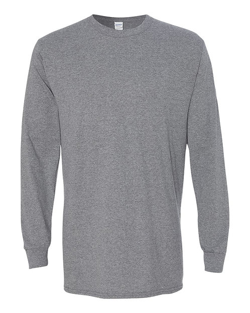 Gildan Grey Long Sleeve Shirt - Size Adult XL