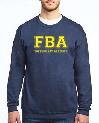 FBA Navy Crewneck