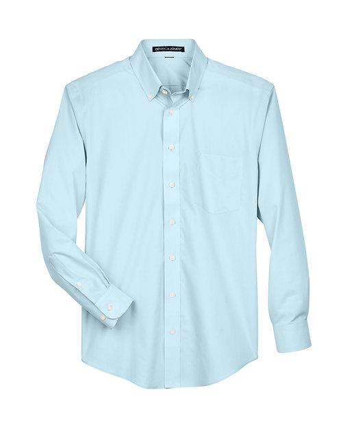 Devon & Jones Blue Dress Shirt - Size Mens L