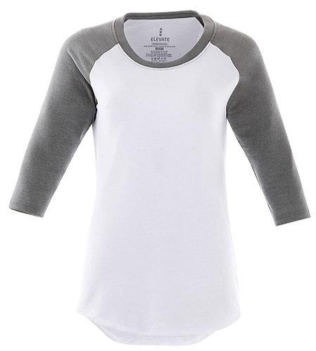 Elevate White/Grey Ball Tee - Size Ladies XL