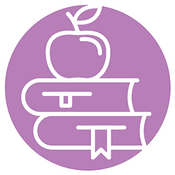 an apple on top of a stack of books for Educators