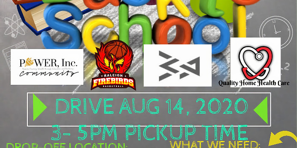 Back to School Supply Drive By