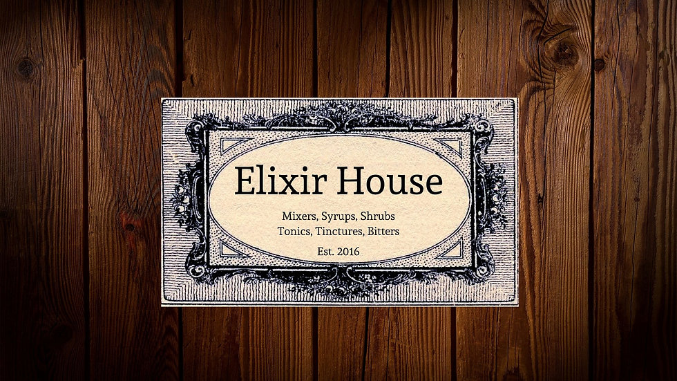 Blog Banner Elixir House Black and White