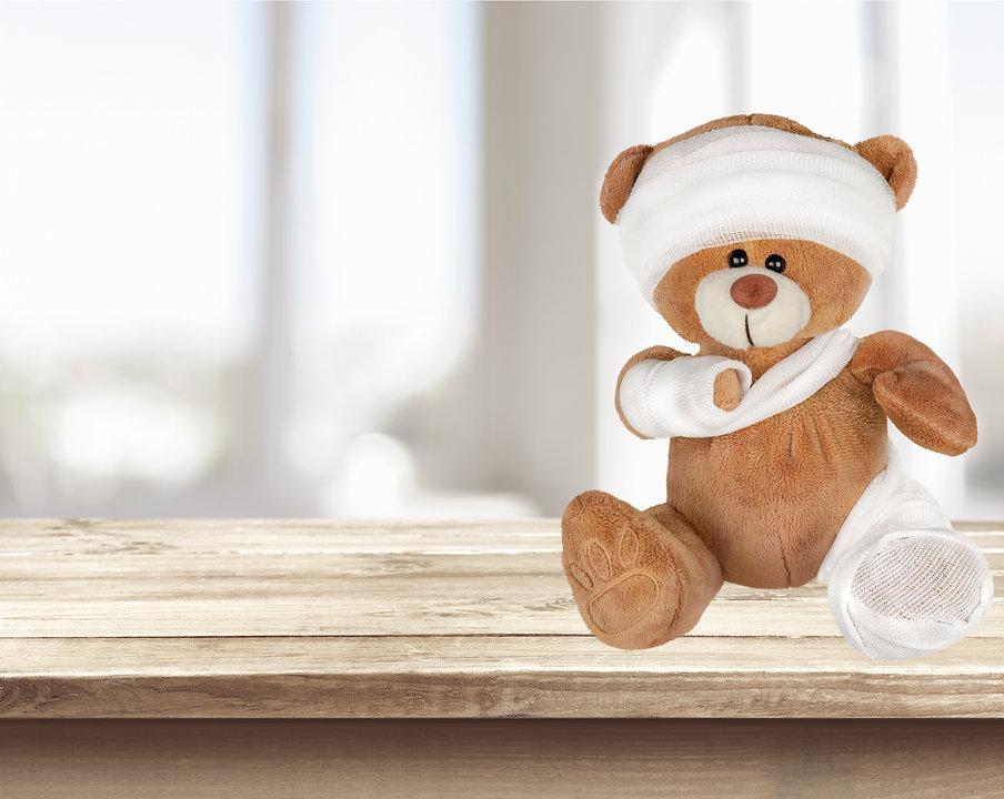 Teddy Bear, Physical Injury, Broken..jpg