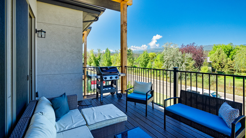 Enjoy a spacious deck to grill and relax.