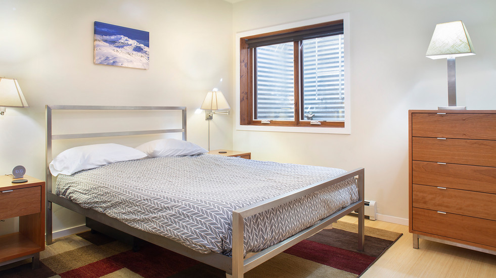 Private master bedroom with queen-sized bed and brand new mattress