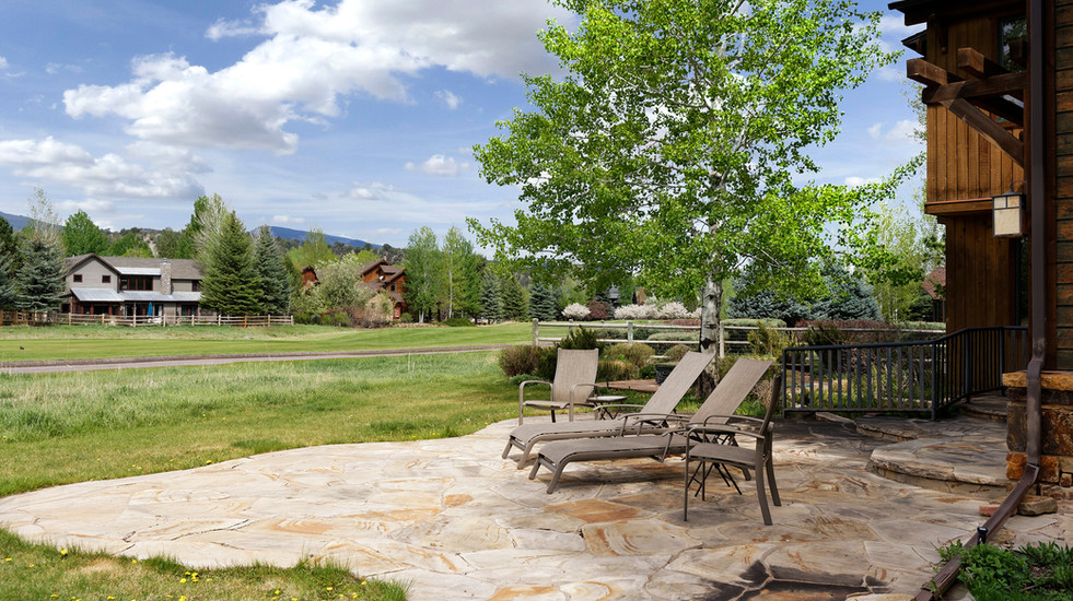 3rd porch that looks out over the 11th hole of the RVR golf course with views of Mount Sopris