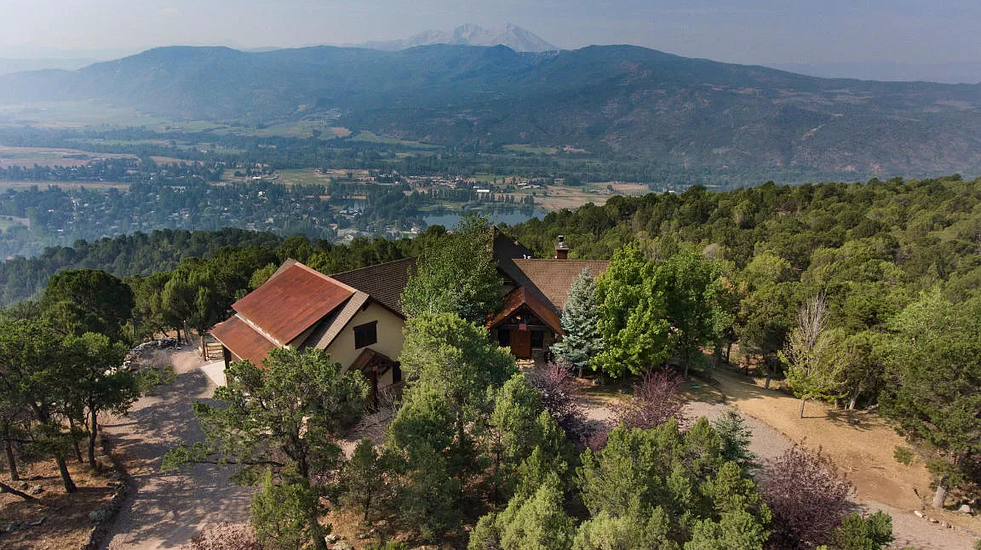 Aerial view of the Sunrise Mountaintop Getaway