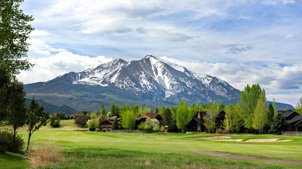 Stunning view of Mount Sopris from the back yard.