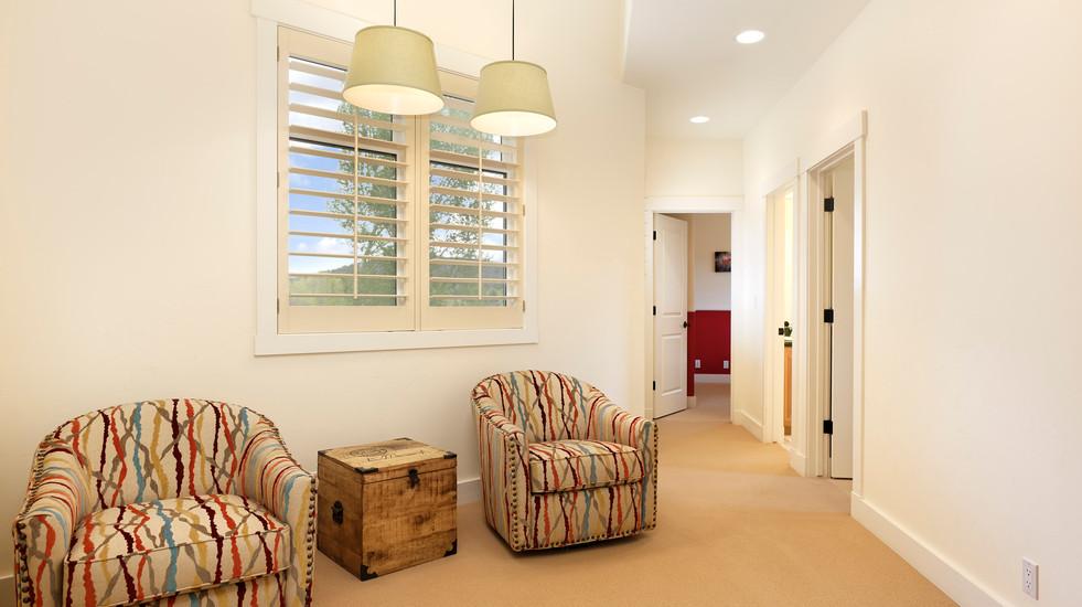 Sitting area in upstairs hallway.