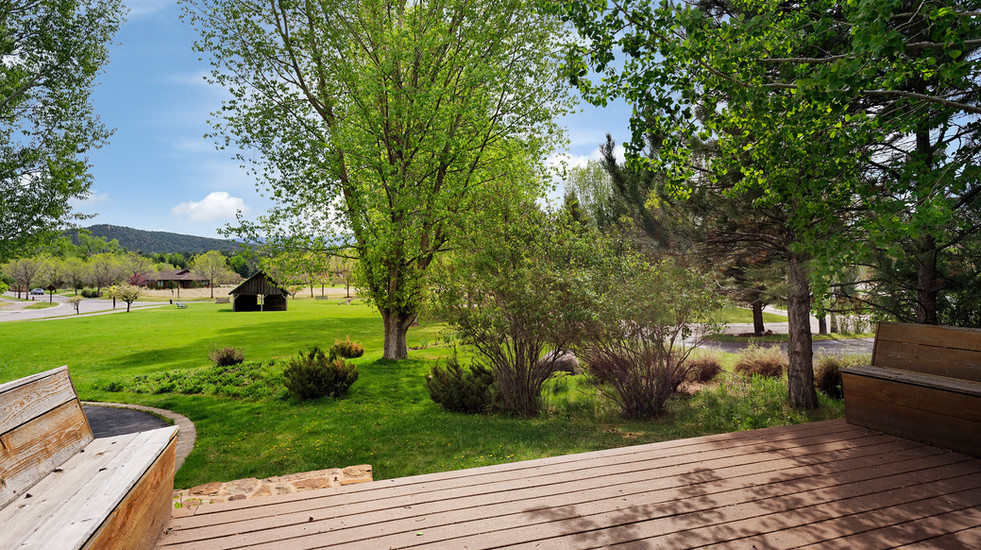 Looking out at Orchard Park from one of your 3 patios