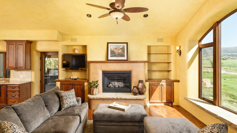 Enjoy cozy evenings with your gas fireplace in the living room