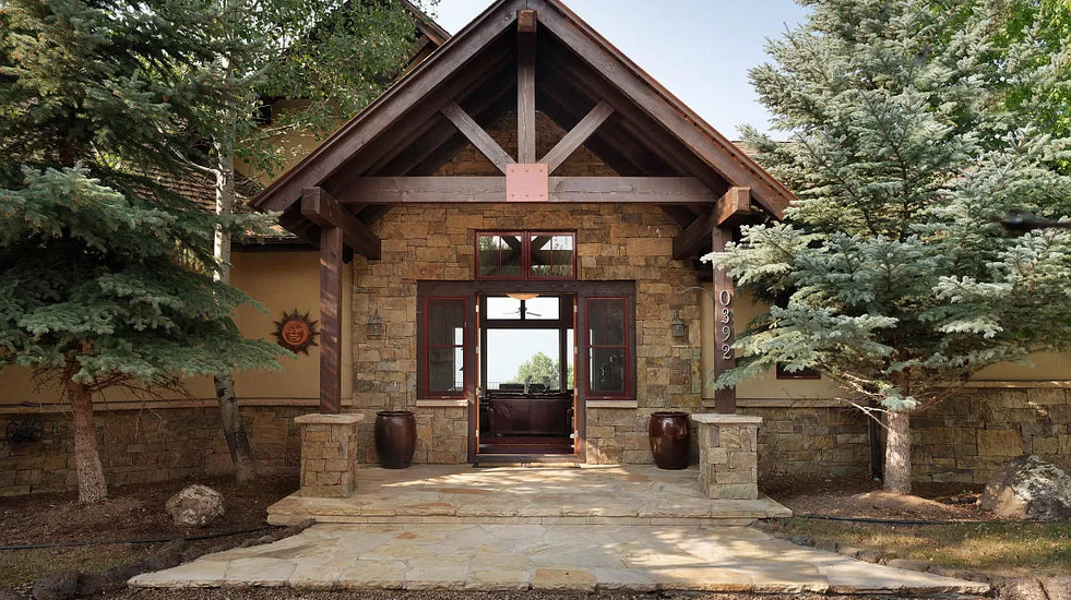 Entry to your mountaintop retreat