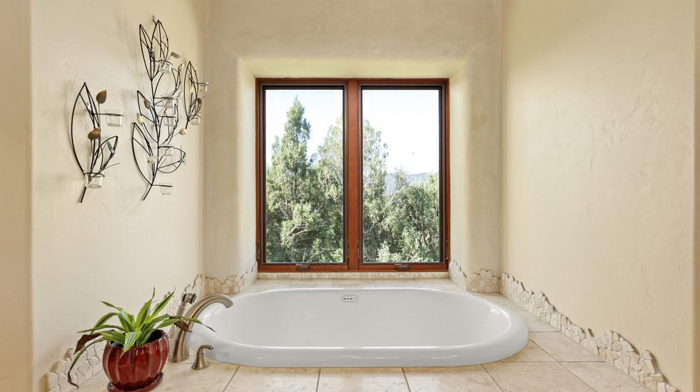 Master bathroom soaker tub