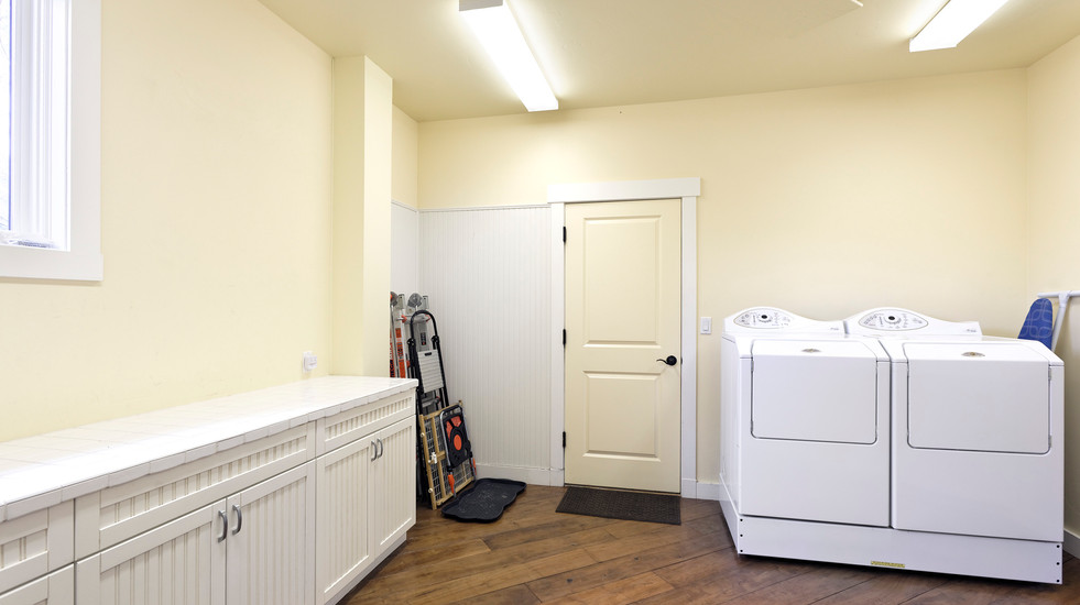 Laundry room and garage access.