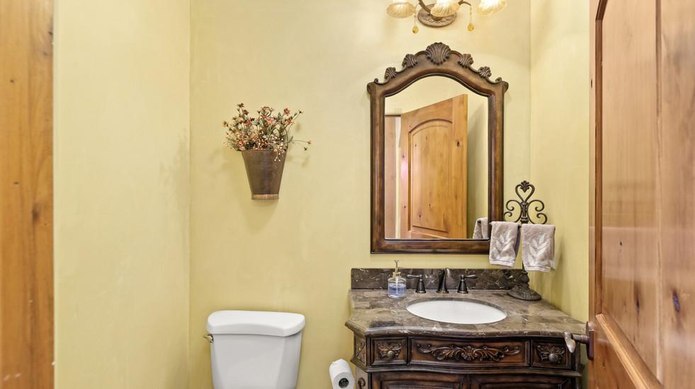 Upstairs powder bathroom