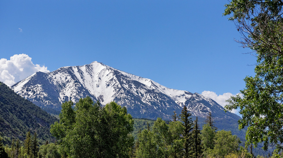 Views of Mount Sopris from the back deck