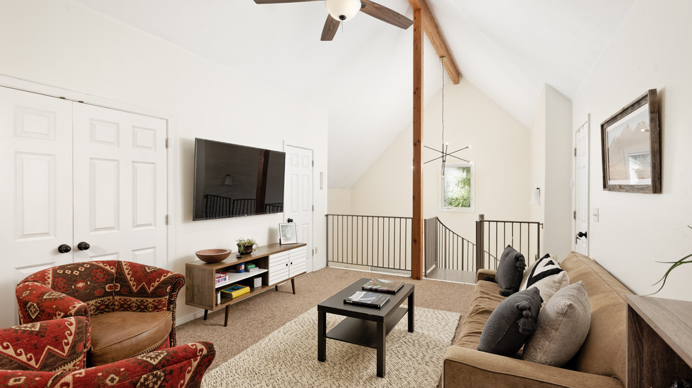 Upstairs family/living area with smart TV
