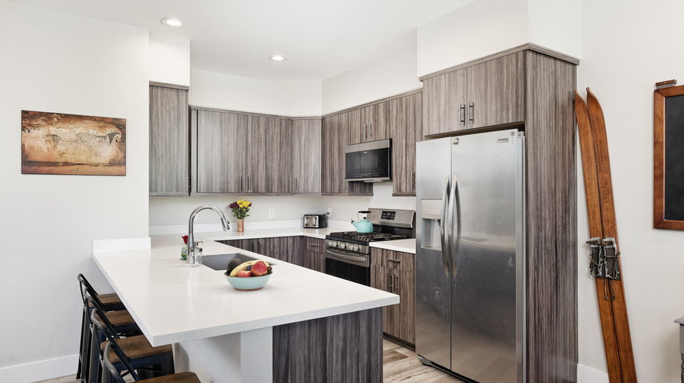 Spacious and modern kitchen with brand new appliances
