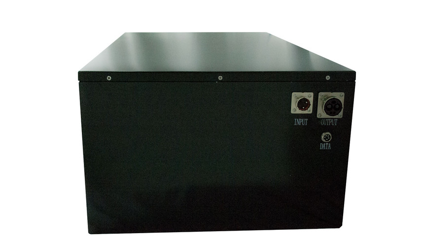 Lithium Ion Battery Bank, Side view