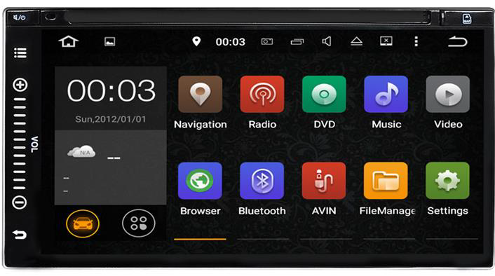 "7"" Dash Radio Desktop Close up"
