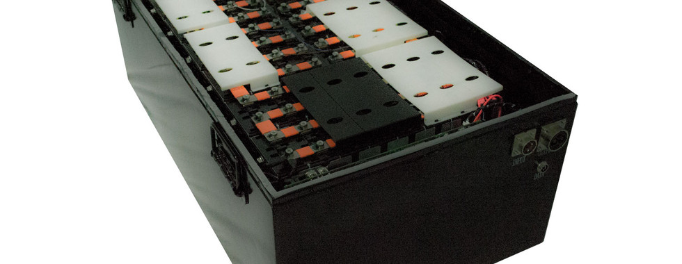 Lithium Ion Battery Bank Interior