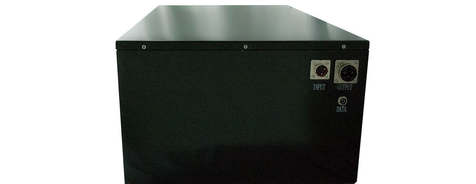 The connecting portsofour Lithium Ion Battery Bank