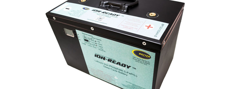 Ion-Ready Battery with side SOC LCD Display