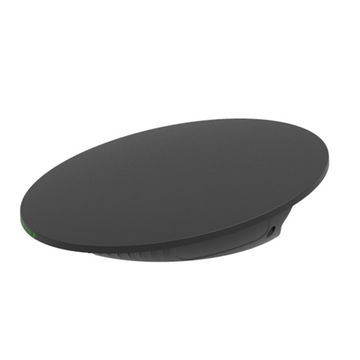 Black low profile router, side view