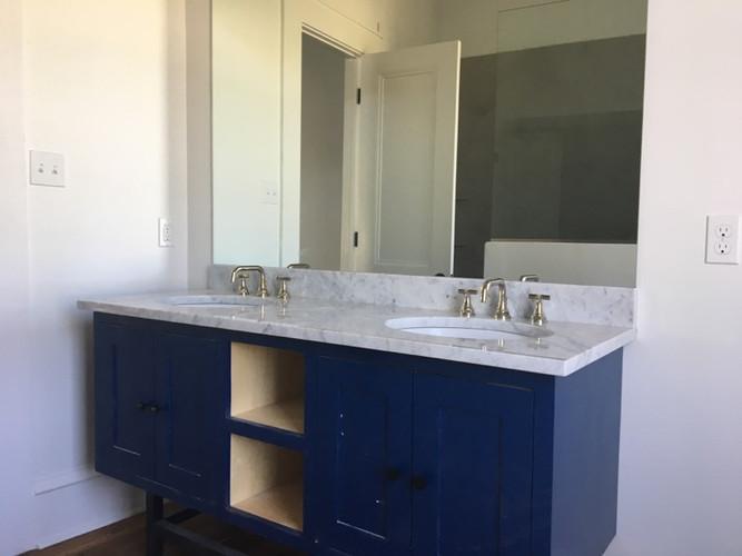 Bathroom plumbing remodel