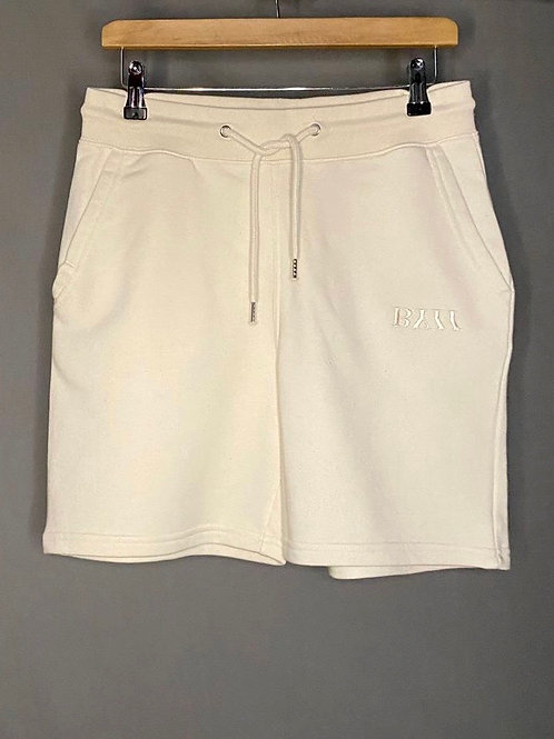 BY11 Organic Cotton Embroidered Track Shorts - Natural