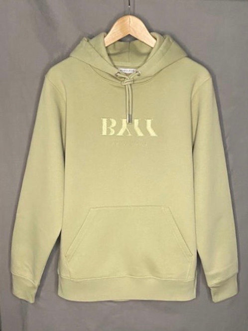 BY11 Organic Cotton Embroidered Logo Hoodie - Sage