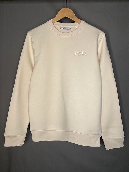 BY11 Organic Cotton Embroidered  Easy Fit Sweatshirt - Natural