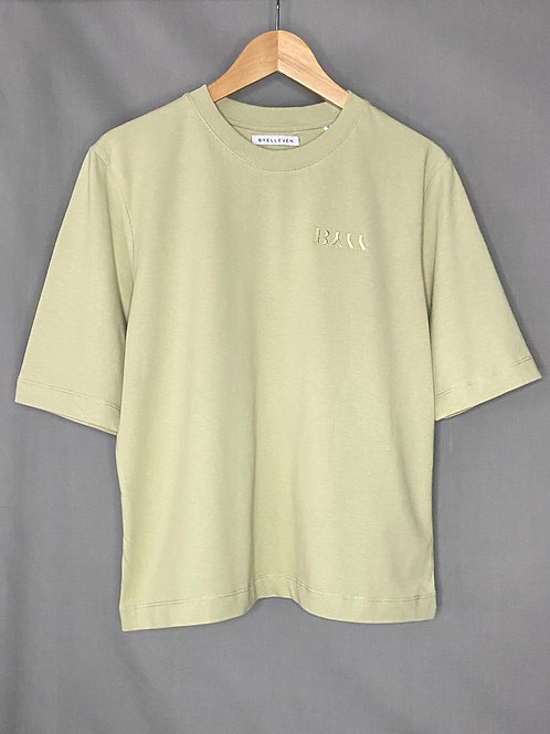 BY11 Organic Cotton Embroidered Easy Fit T-shirt - Sage
