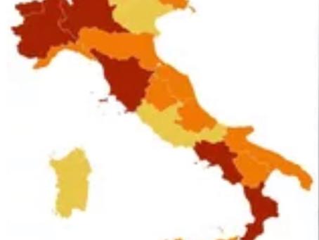 Campania e Toscana zona rossa. Nuove restrizioni in altre 3 regioni