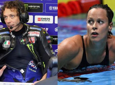 Valentino Rossi e Federica Pellegrini positivi al Covid-19