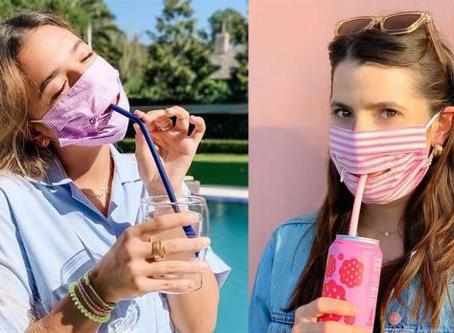 Arriva la mascherina con la zip per bere l'aperitivo in tutta sicurezza